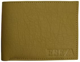 EBEZA Men Beige Pu Bi-Fold Wallet ( Pack of 1 )