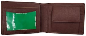 EBEZA Men Brown Pu Bi-Fold Wallet ( Pack of 1 )