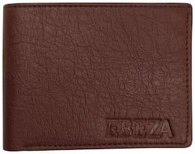 EBEZA Men Brown Pu Bi-Fold Wallet ( Pack of 1 )