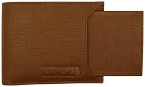 EBEZA Men Tan Synthetic leather Bi-Fold Wallet ( Pack of 1 )