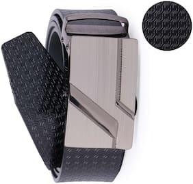 Edifier Men Black Leather Belt (Size: 42 , Pack of 1 )