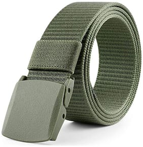 Edifier Breathable Nylon Canvas Waist Belt for Men with Plastic Buckle