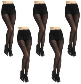 Element Cart Women Nylon Stocking(Pair of sock-stocking-penty-house-black-pack5)