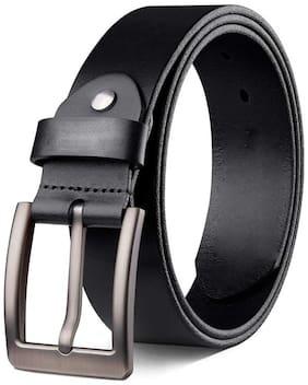 Unisex Leather Belts ( Black )
