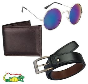 Elligator Men's Belt Wallet and Sunglass Summer Special Combo