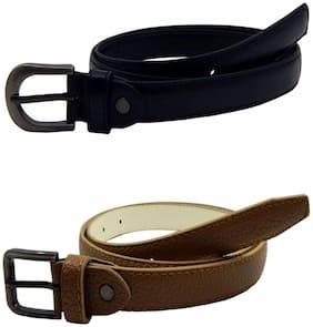Women Synthetic Belts ( Black;Khaki )