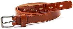 Els Women Synthetic Leather Belt - Tan