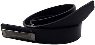 Els Men Black Leather Belt (Size: 36 , Pack of 1 )