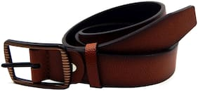 Els Men Tan & Black Reversible Synthetic leather Belt (Size: 40 , Pack of 1 )