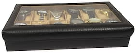 QADIER Men Synthetic leather Watch cases - Black