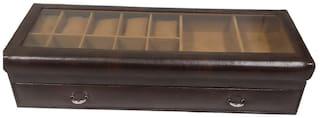 Essart PU Leather Desinger Sunglasse cum Watch Box Vanity , Cufflink Box , Ties , Belt or other Accecssories - Brown