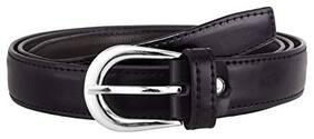 EVERDIVA Women PU Belt - Black
