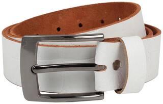 Exotique Men's WHITE Casual Belt (BM0003WT)