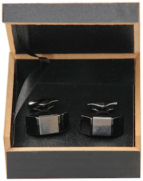 Exquisite Black Stylish Cufflinks for Men In Gift Box