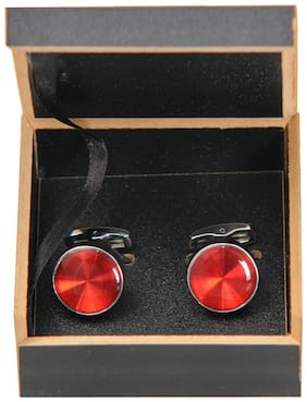 Exquisite Red Stylish Cufflinks for Men In Gift Box