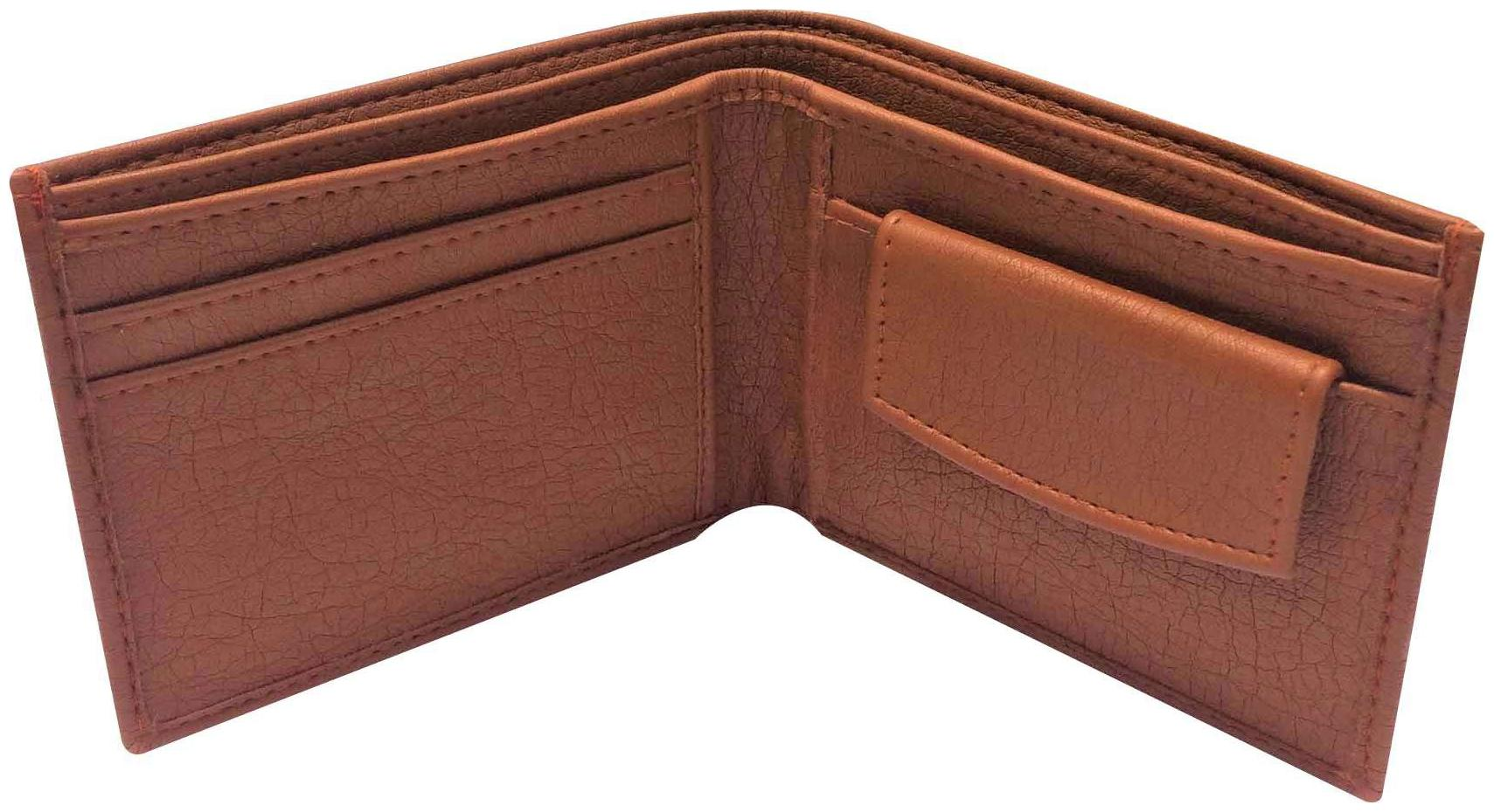 FRIENDS & COMPANY Men Tan Leather Bi-Fold Wallet ( Pack of 1...