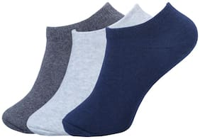 FABDON Multi Cotton Ankle length socks ( 3 pairs )