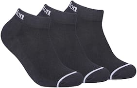 FABDON Black Cotton Ankle length socks ( Pack of 3 )