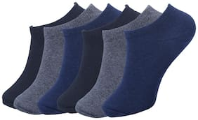 FABdon Men & Women Solid Low Cut Loafer Socks (Pack Of 6)