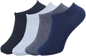 FABdon Men's No Show Low Cut Loafer Socks (Pack Of 4)