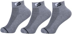 FABdon Premium Cotton Spandex Cushioned Ankle Length Men's Socks With Air Fresh Net - Pack Of 3
