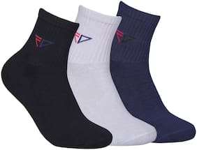 FABDON Multi Cotton Crew length socks ( Pack of 3 )