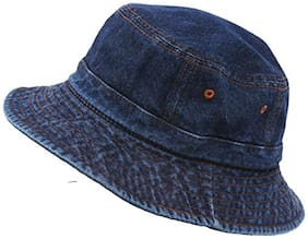 FABLOOK Boys Fishermen Bucket Outdoor Summer Denim Cap