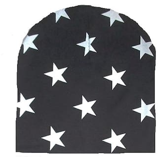 255709bb7cb Buy FABLOOK printed black beanie cap with ring Online at Low Prices ...