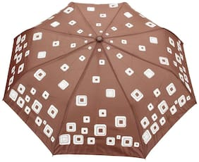 FabSeasons Brown Unisex Graphic Printed;3 fold Fancy Automatic Umbrella for Rains;Summer & All Year Use
