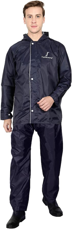 Fabseasons Men Nylon Blue Rain Suit ( Xl , Pack of 2 )