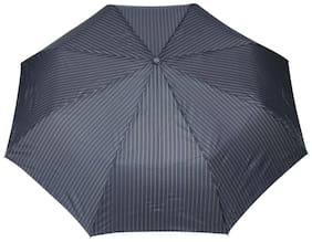 FabSeasons Blue Stripes 3 Fold Fancy Automatic Umbrella for all Weather