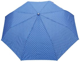 FabSeasons Blue Printed;3 fold fancy Automatic Umbrella for Rains;Summer & All Year Use