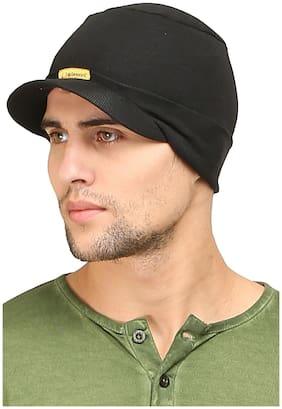 Fabseasons Black Cotton Headwrap