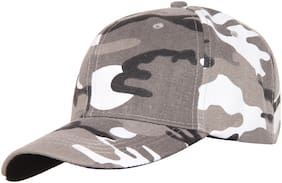 FabSeasons Camouflage Cotton Unisex Free Size with Adjustable Buckle Baseball Summer Cap & Hat
