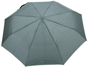 FabSeasons Solid Green 3 Fold Fancy Umbrella for Rain;Summer & All weather conditions