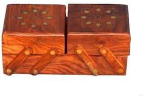 Fabulo Handmade Wooden Carved Jewellery Box for Women Jewel Organizer