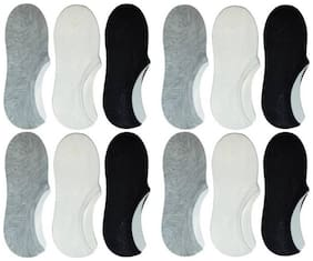 Fashion Inviside Light Boat Socks Silicone Anti-Slip Short Assorted Pack of 6