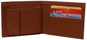 Fashion Men Bifold Leather Wallet ID Credit Card Holder Purse (Brown)