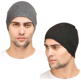 Fashionable Look Skull Helmet Cap Free Size Stretchable Cap