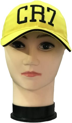fashionable Cotton Baseball Unisex Embroidered Yellow Cap