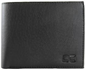 fashionable leather wallet for men ( black straight -3)