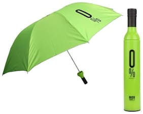 Fashionable Wine Bottle Travel Stylish 3 Fold Umbrella  (1Pc) Multi Color