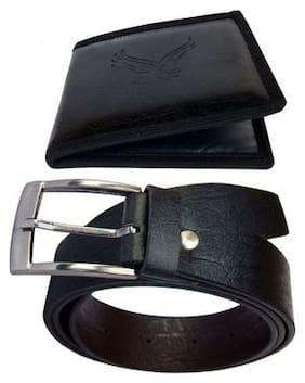 Fashius belt wallet combo of 2