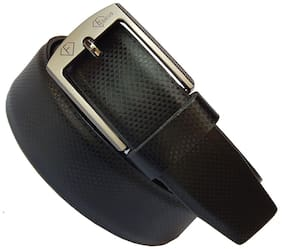 Fashius Black Genuine Leather Belt for men