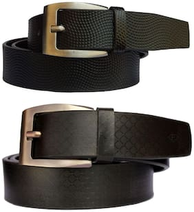 Fashius Men Synthetic Leather Belt Wallet Combo
