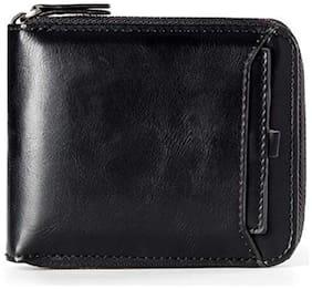 FASHLOOK Men Blue Pu Zip Around Wallet ( Pack of 1 )