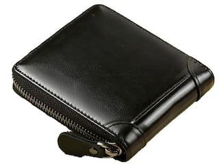 FASHLOOK Men Black Leather Bi-Fold Wallet ( Pack of 1 )