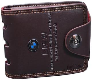 FASHLOOK Men Brown Leather Bi-Fold Wallet ( Pack of 1 )