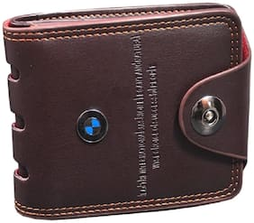 FASHLOOK Men Brown Leather Bi-Fold Wallet ( Pack of 1 )