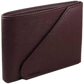 FASHLOOK Men Brown Pu Bi-Fold Wallet ( Pack of 1 )